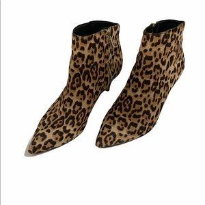 Sam Edelman leopard booties size 7